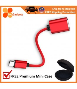 EvoGadgets Type-C USB 3.0 OTG Cable support USB flash drive, disk, Keyboard, USB Cable, and mouse.