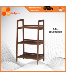 EvoGadgets Open Shelving Concept Ladder Bookshelf / Display Rack / Bookcase / Multipurple Rack  (Solid Wood) / Rak Buku