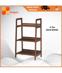 EvoGadgets Open Shelving Concept Ladder Bookshelf / Display Rack / Bookcase / Multipurple Rack  (Solid Wood) / Rak Buku