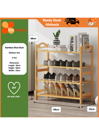 EvoGadgets - DIY Multi Tier Bamboo Shoe Rack Shoes Rack / Rak Kasut Buluh Bertingkat