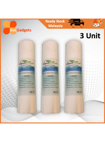 EvoGadgets Aqua Green – 2-Tier 10-inch PP Sediment Water Filter Cartridge (1 Micron)