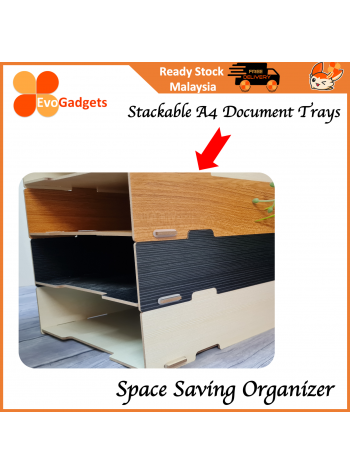 EvoGadgets Innovative Wooden Stackable A4 Document / Letter Tray / Desktop / Tabletop Organiser / Document Rack