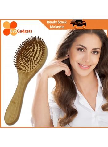 EvoGadgets Premium Natural Bamboo Hair Brush / Scalp Comb Massager