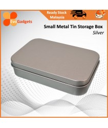 Metal Tin Storage Box / Rectangular Small Container / Multipurpose Storage Tin Box