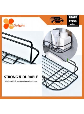 EvoGadgets Corner Shower Caddy / Adhesive Basket Storage Rack / Bathroom Storage Organizer / Bathroom Rack