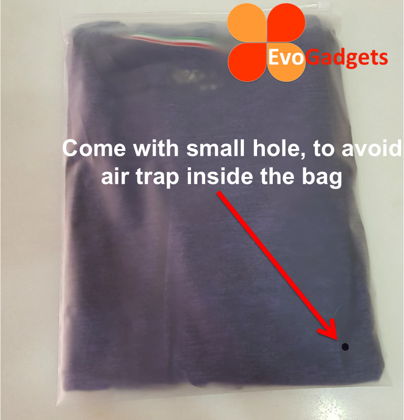 EvoGadgets Travelling Storage Bag -Double Sided Matte Transparent