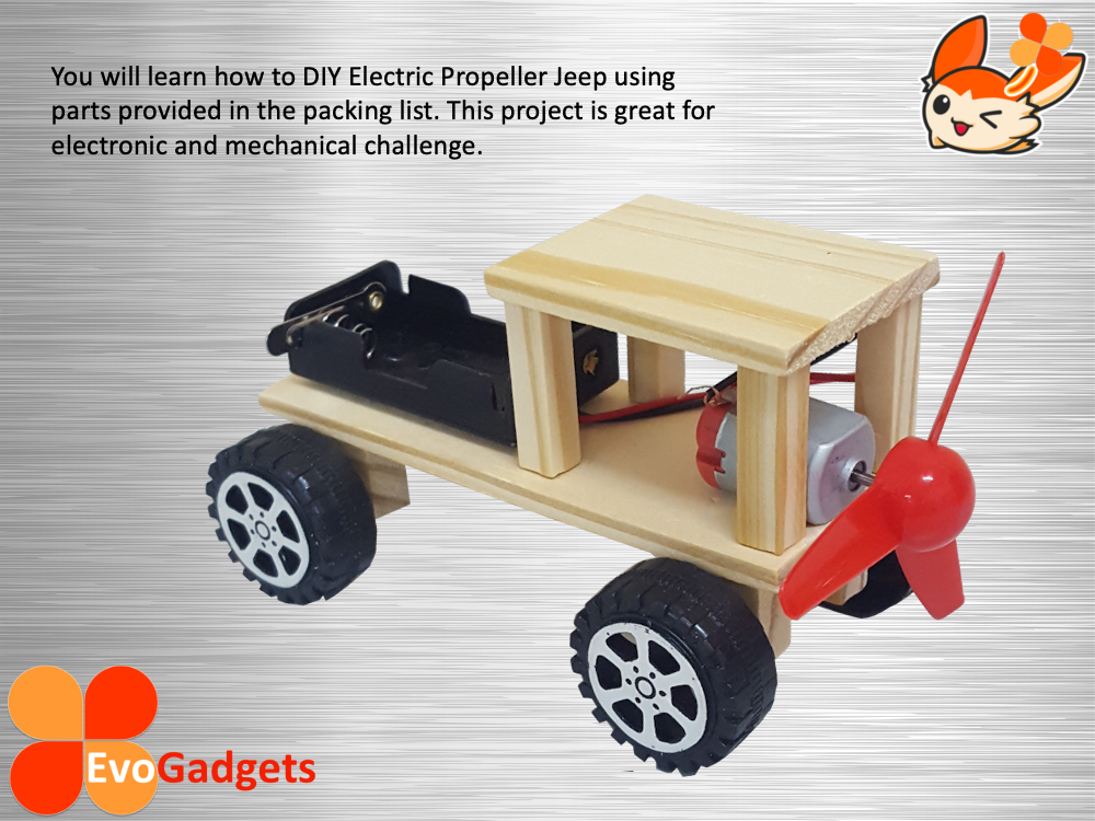 STEM Project / DIY Electric Propeller Jeep or Car / Electric Wind Power Jeep / Mainan Kanak STEM Project