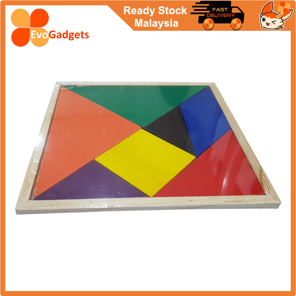 Wooden Tangrams Puzzle for Kids - A learning tool for building STEM skills. (Large Size)